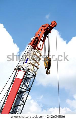 Construction crane Structure - stock photo