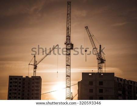 Construction cranes and construction plant