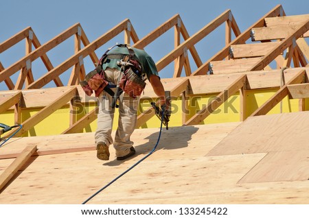 Commercial construction stock images royalty free images for Clear story roof design