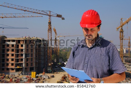 Construction engineer - stock photo