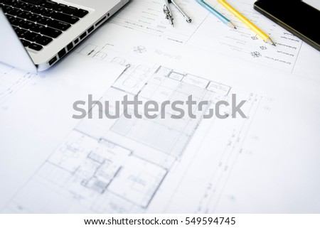 Construction equipment repair work drawings building stock photo repair work drawings for building architectural project blueprint rolls and divider malvernweather Gallery