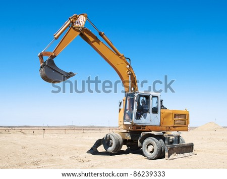 Construction Excavation - stock photo