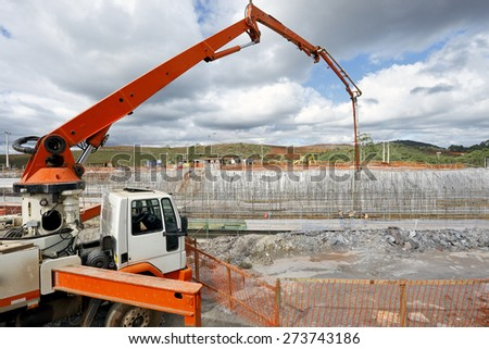 Construction, foundation. - stock photo
