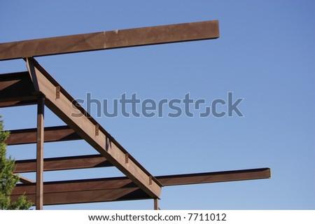 Construction girders - stock photo