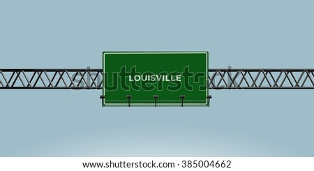 construction green road sign louisville