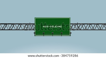 construction green road sign new orleans