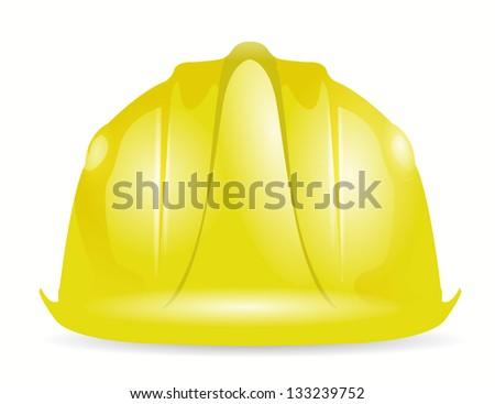 construction helmet illustration design over a white background - stock photo