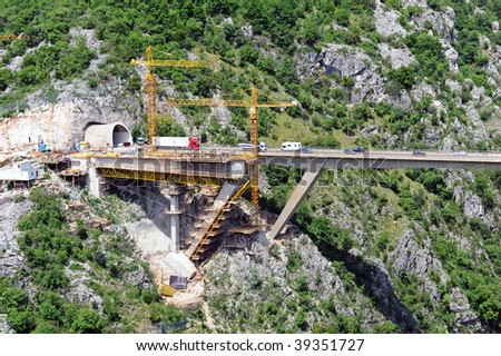 Construction - highway bridge