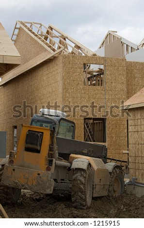 construction lift. - stock photo