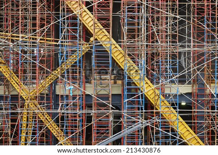 Construction of a new skyscraper in New York City, U.S.A. - stock photo