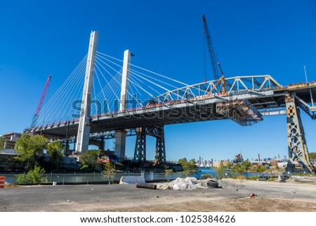 Construction of Kosciuszko Bridge