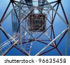 Construction of oil reservoir. - stock photo