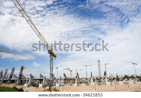 construction of the stadium, vilnius, lithuania