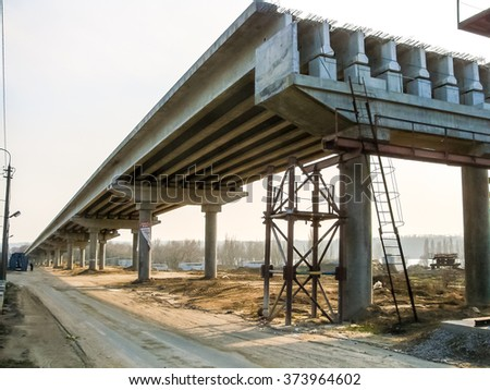 Construction of traffic artery. - stock photo