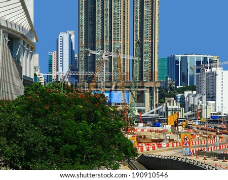 Construction Place in Hong Kong.