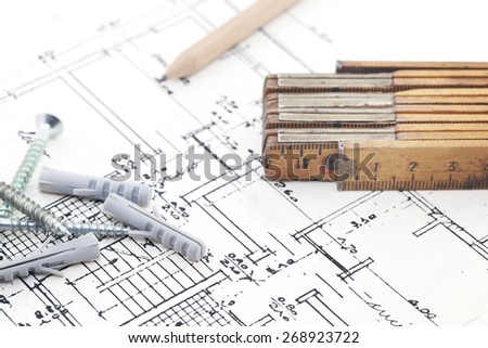Construction project - stock photo