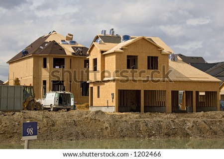 construction roofing - stock photo