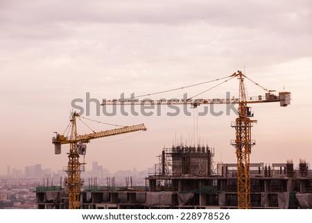 Construction site. - stock photo