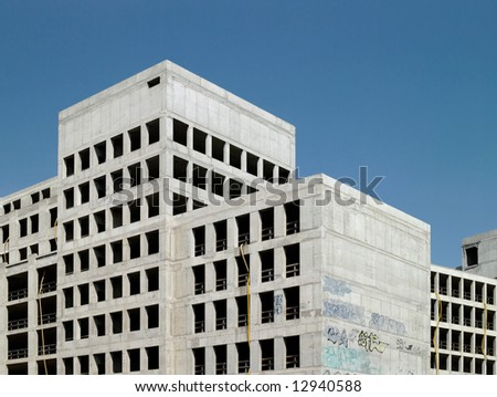 construction site in eastern berlin - stock photo
