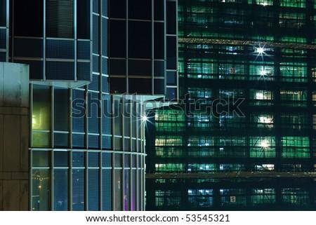 Construction site of skyscraper - stock photo
