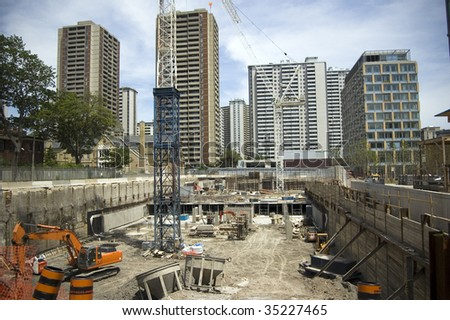 construction site pit / city landscape