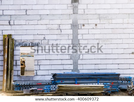 Construction site wall - stock photo