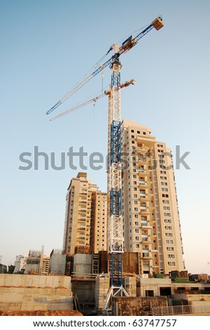 construction site wide angle - stock photo