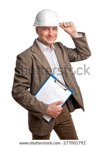 Construction Supervisor Happy - stock photo