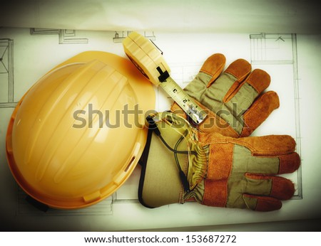 Construction tools. House renovation service. - stock photo