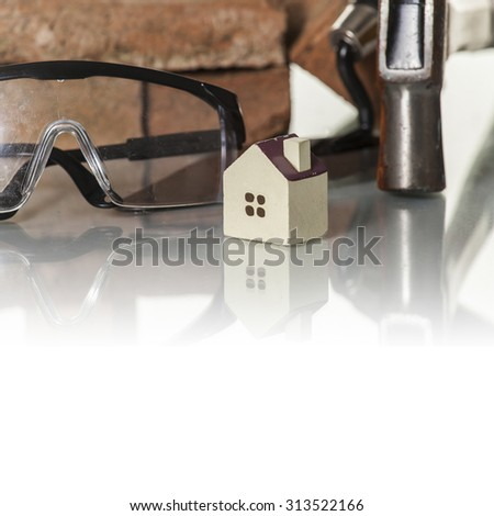 Construction Tools with House Icon