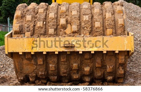 Construction Truck Wheel - stock photo