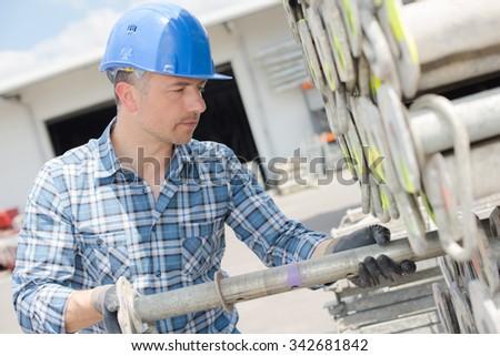 construction work - stock photo