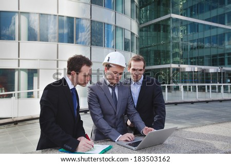 construction work project - stock photo