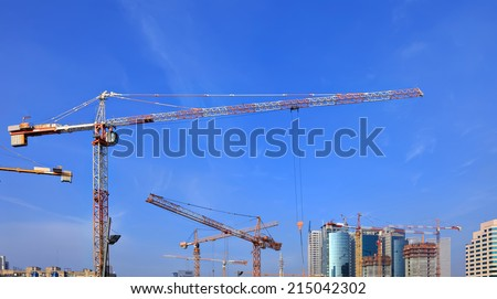 Construction work site panoramic view  - stock photo