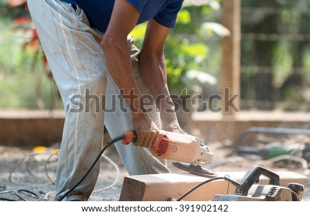 Construction Worker . - stock photo