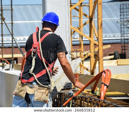 Construction worker is working - stock photo