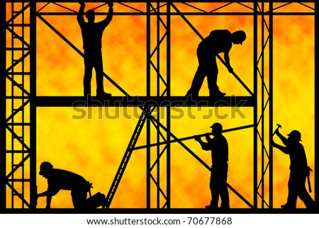 construction workers - stock photo