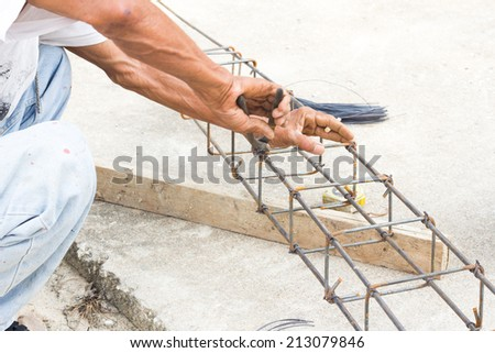 Construction workers are made ??of steel. - stock photo