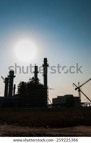 Construction working  power plant - stock photo