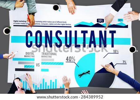 Consultant Adviser Leader Business Concept - stock photo