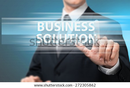 Consultant. Businessman hand touch 3d virtual chart business - stock photo