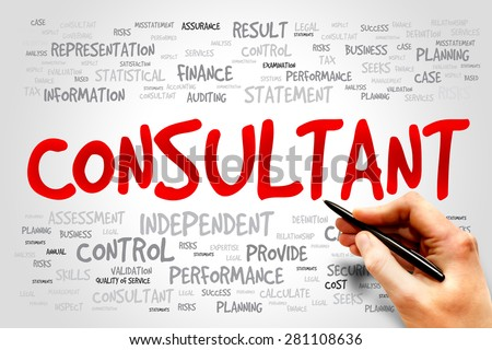 CONSULTANT word cloud, business concept - stock photo