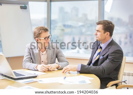 consulting Manager businessman interview - stock photo