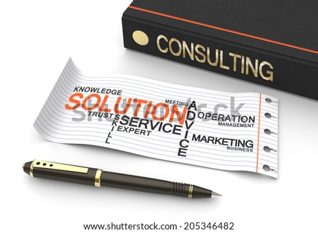 Consulting word written on the book as a concept - stock photo