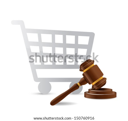 consumer law concept illustration design over a white background - stock photo