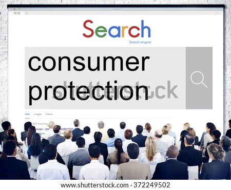 Consumer Protection Legal Rights Regulations Concept - stock photo