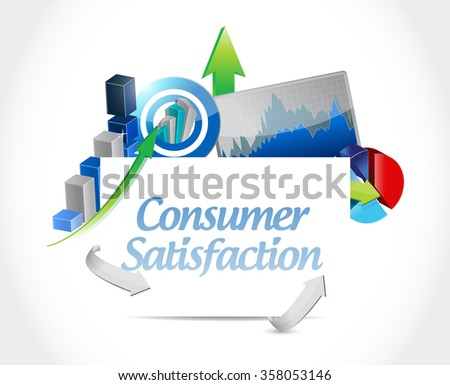 Consumer Satisfaction business board sign concept illustration design graphic