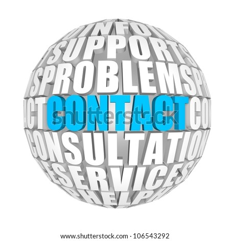 contact - stock photo