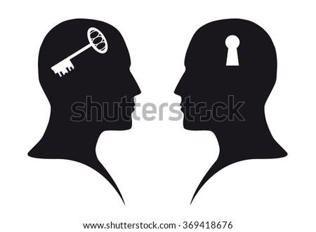 Contact (communication) - stock photo