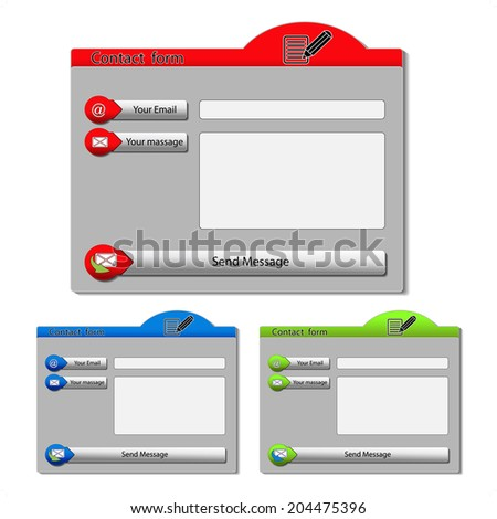 contact forms - stock photo